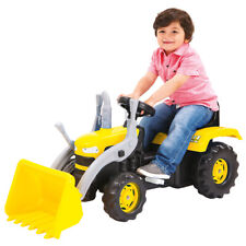 Dolu Children Ride On Tractor in Yellow Made of Plastic - Pedal Operated