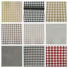 Luxury Gingham Check | 100% Cotton Woven Material Fabric Curtains | 10 Colours