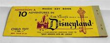 Disneyland - Vintage - CHILD ($3.50) 10 Adventures - Used Ticket Coupon Book