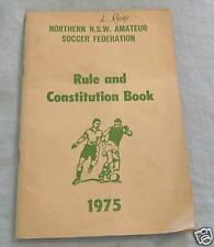 #D80.  1975 RULES & CONSTITUTION NTH NSW SOCCER FEDERATION