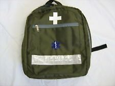 EMERGENCY FIRST AID RUCKSACK (KITTED) GREEN BAG