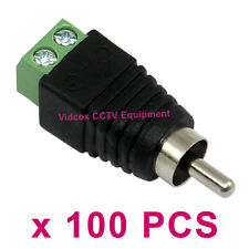 100x UTP CAT5 Speaker RCA Wire to AV Phono Male RCA Connector Jack Plug Adapter