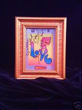 "PETER MAX ""LOVE"" Print Signed Gift from Peter Himself @reecesrainbow"