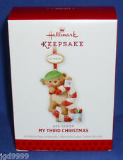 Hallmark Ornament Child's My Third Christmas Bear Personalize with Year Sticker