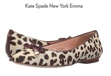 Kate Spade New York Emma Leopard Hair-calf Pointed Toe Flat Women's Size 10M NEW