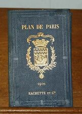 Plan de Paris, Liste Alphabetique des Rues de Paris, Hachette 1906, Karte