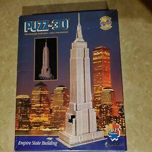 "VTG. WREBBIT 3-D PUZZ - ""EMPIRE STATE BUILDING"" (902 Piece) ~ DIFFICULT"