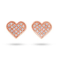 Pendientes de joyería con diamantes en oro rosa