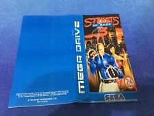 Color Custom Manual STREET OF RAGE III Mega Drive PAL Version - AAA+++