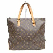 Authentic Louis Vuitton Tote Bag Cabas Mezzo M51151 Browns Monogram 322266
