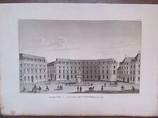GRAVURE 1839 PARIS ANCIENNE VUE DE LA PLACE DES VICTOIRES EN 1789