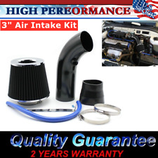 Air Flow Intake Kit Pipe Diameter 3'' Cold Air Intake Filter&Clamp Accessory US