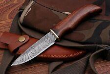 Damast  Messer, sehr schönes Hand geschmiedetes Damast Jagd Messer 533DL