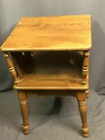 Baumritter Cover Cut Display Vintage Solid Wood Side Table Nightstand Made USA