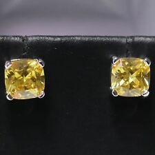 Gorgeous Citrine Earring Stud Women Birthday Wedding Engagement Jewelry Gift