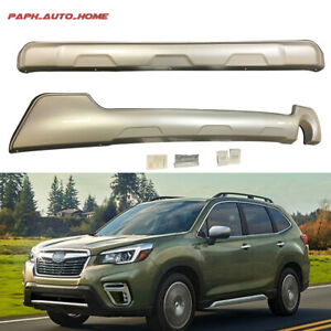 Frond & Rear Bumper Plate Mouldings  For Subaru Forester 2019 2020 Trim Scuff