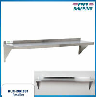 "12"" x 60"" NSF Wholesale Stainless Steel Restaurant Kitchen Metal Wall Shelf Rack"