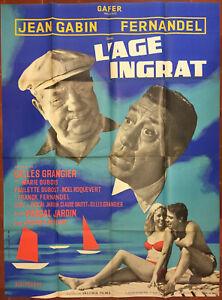 Poster L'Age Ungrateful Gilles Grangier Jean Gabin Fernandel 47 3/16x63in
