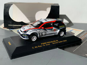 RALLY 1/43 IXO MARTINI FORD FOCUS RS WRC COLIN MCRAE SAFARI RALLYE 2002 MSPORT
