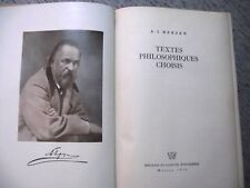 ALEXANDRE I.HERZEN TEXTES PHILOSOPHIQUES CHOISIS SOCIALISME RUSSIE 1950