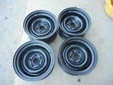 """FORD MUSTANG MACH 1 14"""" X 7""""  FACTORY STEEL WHEELS RIMS CLEAN SET OF 4"""
