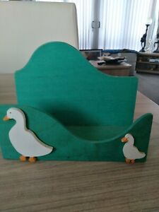 Wooden Letter Rack With Duck And Duckling