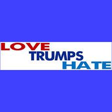 LOVE TRUMPS HATE  Bumper Sticker  -  BUY 2 GET 1 FREE