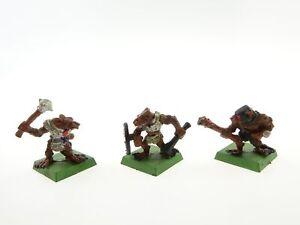 Warhammer Skaven set of 3 vintage metal miniatures OOP