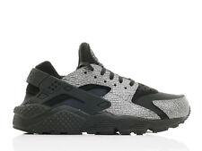 WMNS Nike Air Huarache Run PRM Running Shoes Black/Silver 683818 003 Sz 6