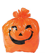 Halloween Pumpkin Yard Bags 12 Piece Lawn Party Decoration