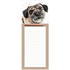 BORDER TERRIER Magnetic Memo Pad | DOG Fridge Magnet Shopping List | With Pencil