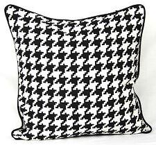 "AR'S 100% Cotton Luxury Cushion Covers Design Black & White Pttern Size 18""x18"""