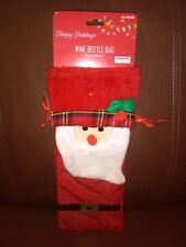 Red Santa  Wine Bottle Bag