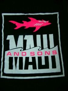 MAUI & SONS  SHARK Muscle TANK Black SINGLET SHIRT TAG UNISEX M SURF SKATE GYM