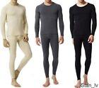 Mens 2pc Top and Bottom Long John Underwear Thermal Set Waffle Knit M L XL XXL