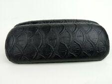 Giorgio Fedon Eyeglasses Hard Shell Case Leather Protective Travel Carrier Black