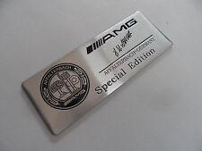 """AMG , """"Special Edition"""" , Alu Plakette 3D Sticker, Aufkleber, Emblem, Schriftzug"""