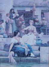 "STUNNING SARA WHITE WOODEN JIGSAW PUZZLE ""THE VENETIANS"" SIR SAMUEL LUKE FILDES"