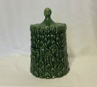 Vintage ~McCoy Pottery Asparagus Vegetable 1970s Cookie Jar~ 10 Inches H