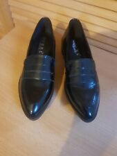 Core Collection Black Patent Creeper Style  Slip On Shoes 6/39:BNWT: Emo/Rock