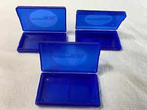 3 Game Cartridge Cart Holder Cartridge Box for Nintendo DS Blue