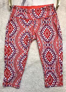 PrAna Women's Athletic Pants Size XS Maison Knicker Coral Gardenia NWT Yoga