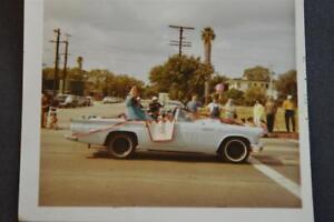 Vintage Car Photo Pretty Girl in Parade 1955 Ford 1956 1957 Thunderbird 909026