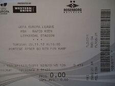 TICKET UEFA EL 2012/13 Rosenborg BK - Rapid Wien