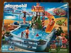 PLAYMOBIL 4858 Open Air Pool Playset. Missing 2 pieces. Pictured. Original box.