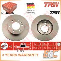 2x FRONT BRAKE DISC SET MERCEDES-BENZ VW TRW OEM 9064210212 DF4822S HEAVY DUTY