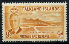 Falkland Islands 1952 SG#179, 9d Viessof The Two Sisters, KGVI MNH #D51812