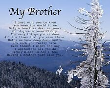 Personalised My Brother Poem Birthday Christmas Anniversary Gift Present