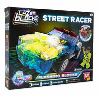 Car Construction Set Kids LED Streetcar Building Bricks Block Tech Lazer Blocks