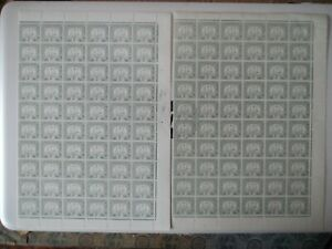 2 X HONG KONG 2c SGD6,6a fresh U/M margin block of 60 top quality gum Cat £700++